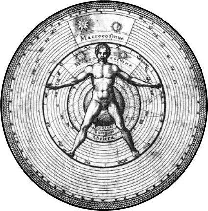 Chart of Micro-cosmos in Stoicism, by Robert Fludd, Utriusque cosmi: Metaphysica, Physica atque Technica Historia, Oppenhemii, 1617